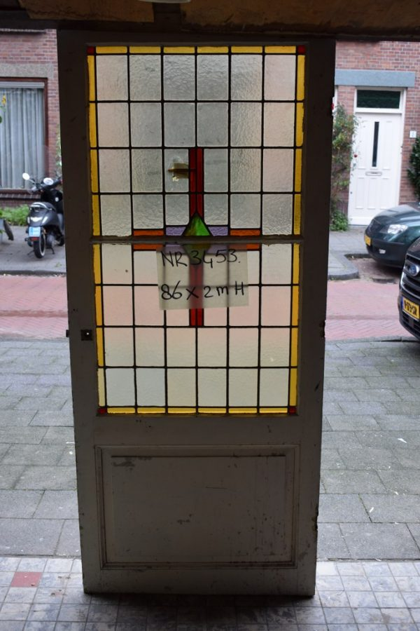 Glas in lood deur