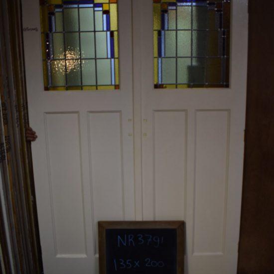 Glas in lood deuren